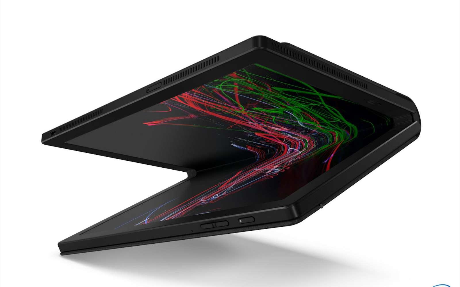 Est-ce que l'avenir appartiendra à des tablettes géantes que l'on peut plier pour transformer en mini-ordinateur portable ? © Lenovo