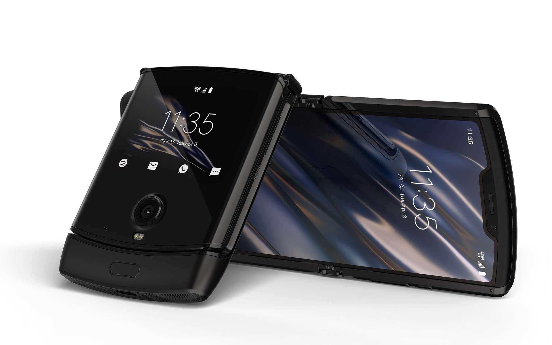 L'écran pliable sur des modèles à clapet semble être la grande tendance de 2020. © Motorola