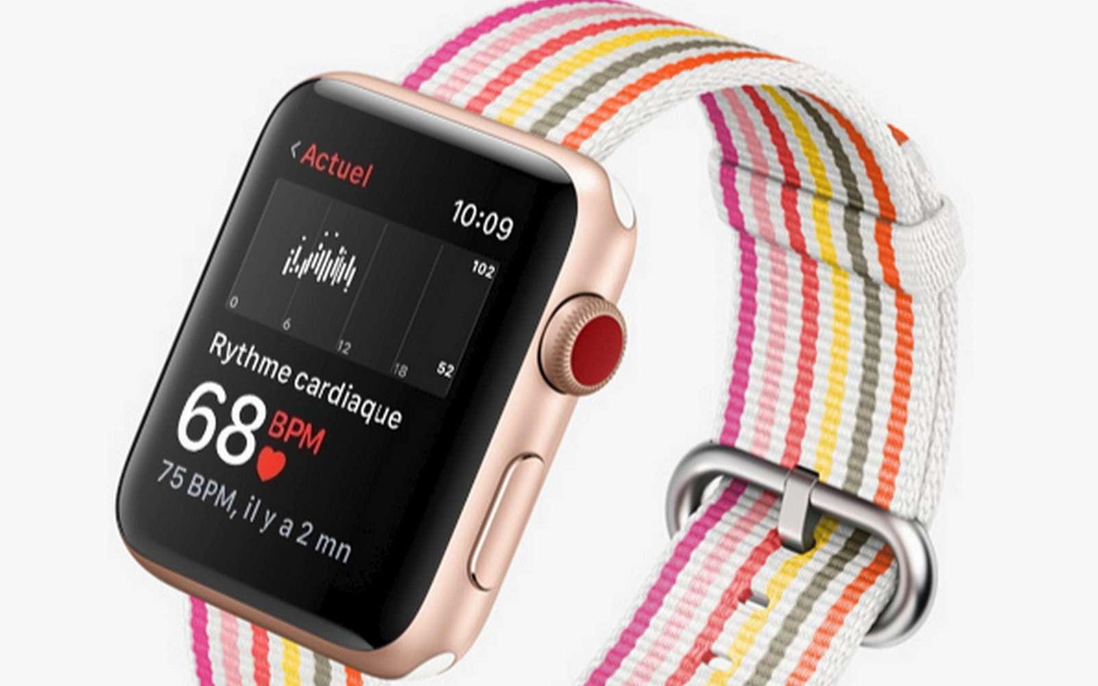 La plupart des bracelets et montres connectés sont compatibles avec l'application © Apple