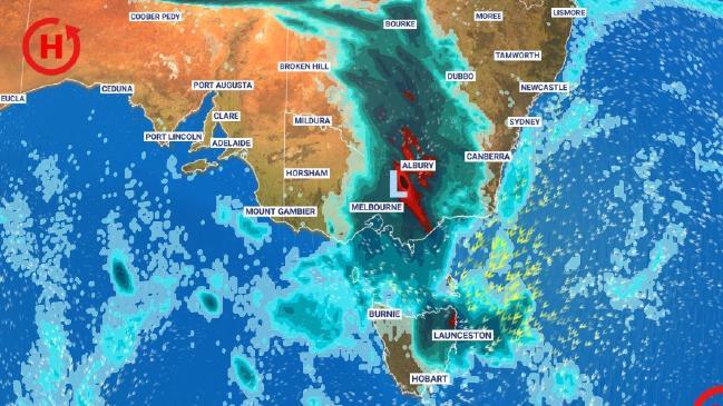 Pronóstico de lluvia, tormentas y temperaturas descendentes