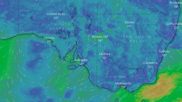 Los australianos advirtieron que aumentaría la temperatura a medida que las temperaturas caen en picado