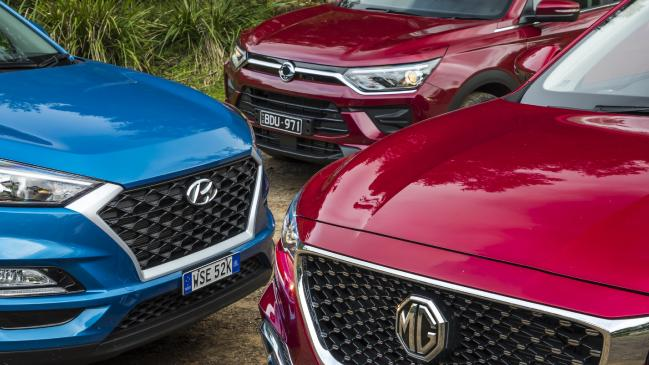 MG HS, Hyundai Tucson y SsangYong Korando