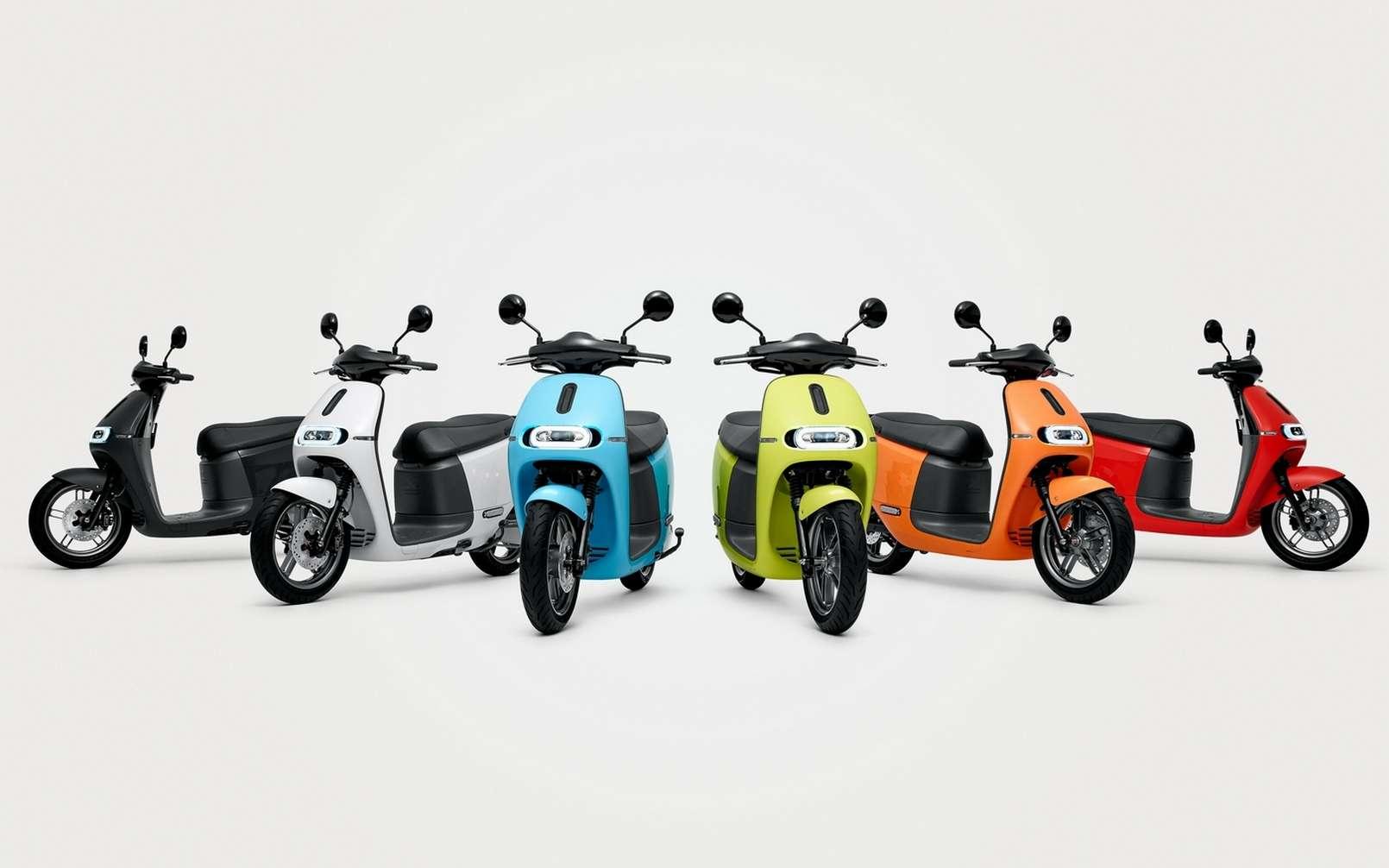 Les scooters électriques Gogoro sont appréciés pour leur look sympa, leurs performances et leur robustesse. © Gogoro