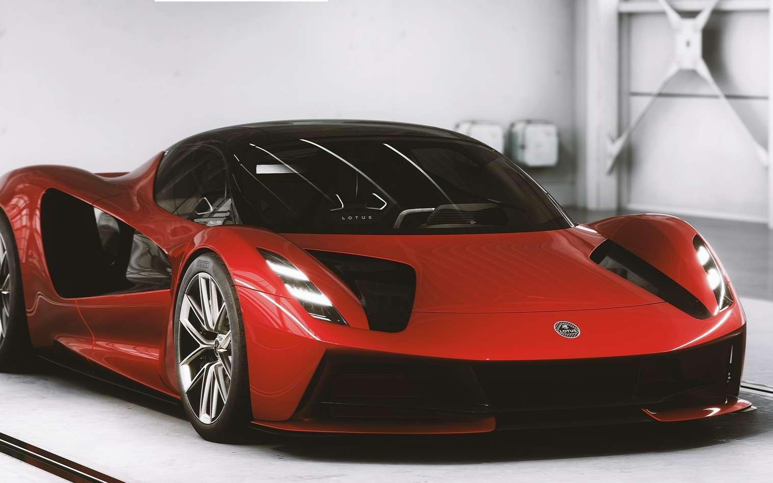 La Lotus Evija dans sa livrée rouge est vraiment superbe. © Lotus Cars