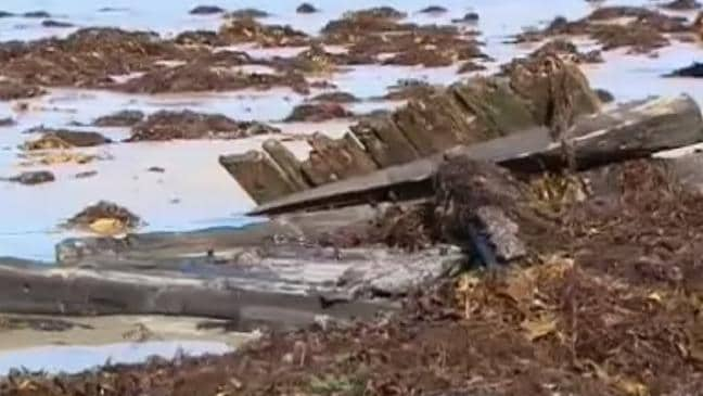Naufragio del Amazonas descubierto en la playa victoriana