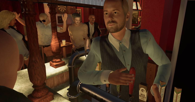 Recreé mi pub local en realidad virtual