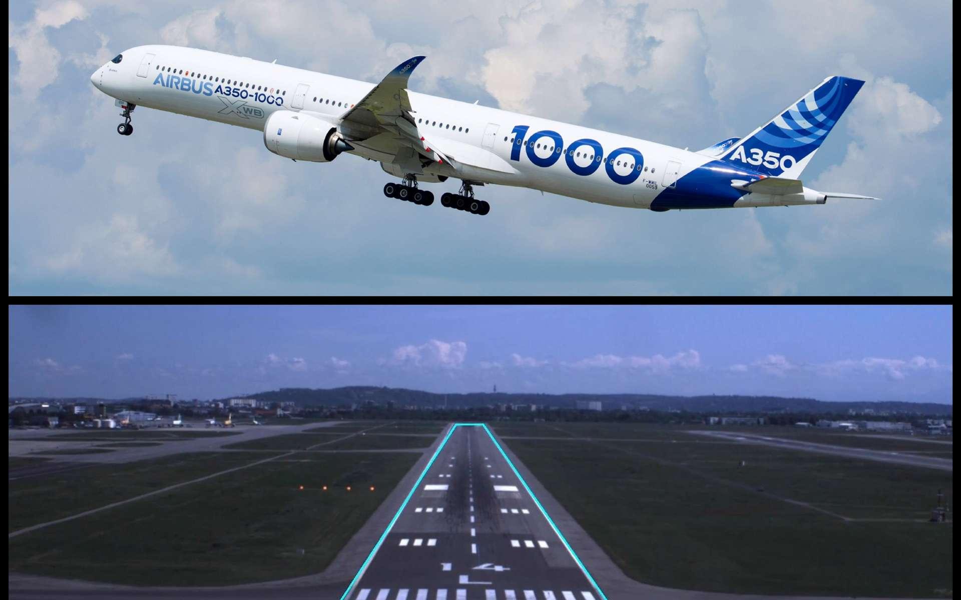 Le projet Attol permet aux avions d'effectuer sans pilote les phases de décollage, atterrissage et roulage. © Airbus
