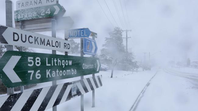 Tiempo de NSW; nieve; vientos extremos