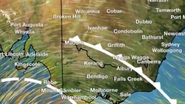 Advertencias meteorológicas de Nueva Gales del Sur enérgico frente frío barre el estado