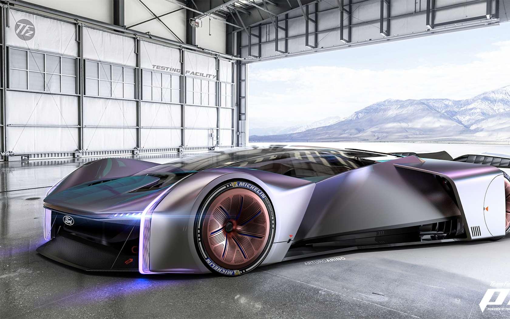 Ford presenta su auto de carreras virtual inspirado en Ford GT