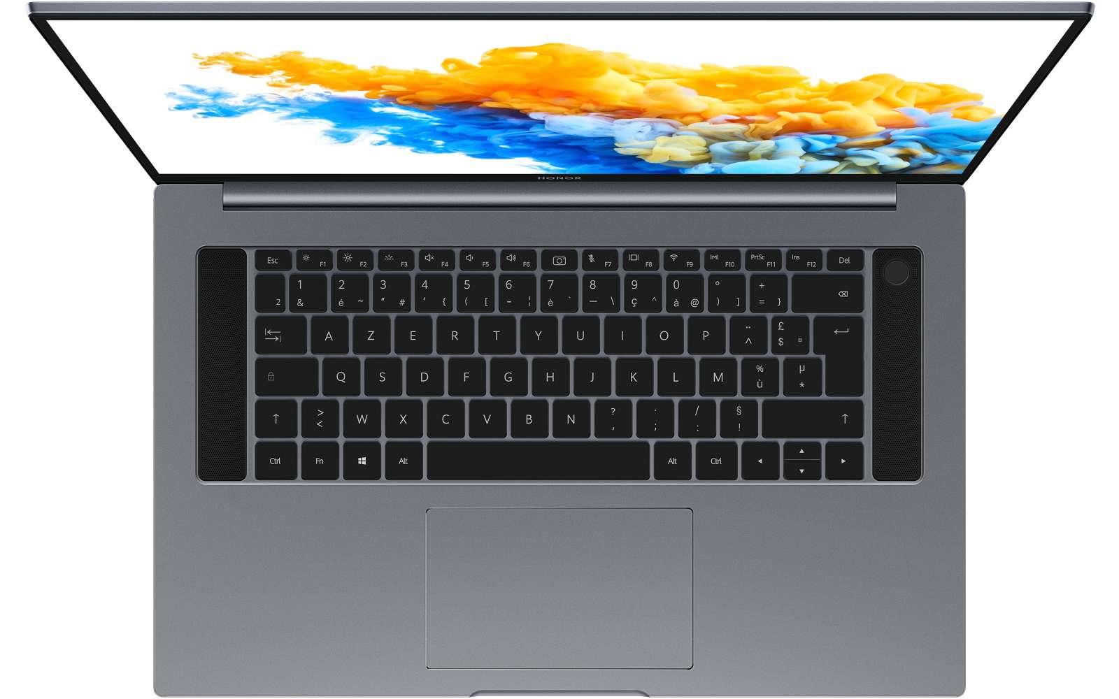 Elégant et fin, le MagicBook Pro de Honor ressemble de loin au MacBook Pro d'Apple, avec un tarif bien plus accessible. © Honor