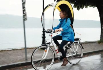"Bub-Up: una ""burbuja"" contra la lluvia en bicicleta |  Diario del friki"