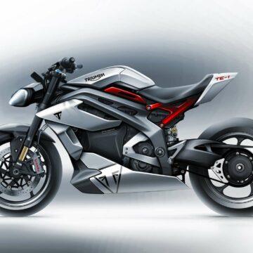 Triumph presenta el primer vistazo de su futura motocicleta eléctrica, la Triumph TE-1