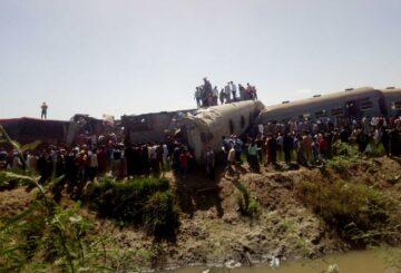 Accidente de tren en Egipto deja 32 muertos y decenas de heridos