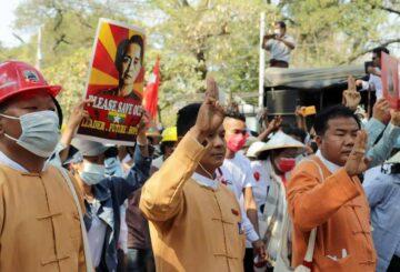 Dentro de la 'revolución de primavera' que se opone al golpe militar de Myanmar