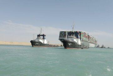 El propietario japonés de un buque portacontenedores atrapado en el Canal de Suez dice que no recibió reclamaciones de indemnización