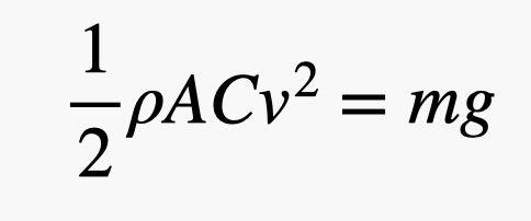 ecuación de velocidad terminal