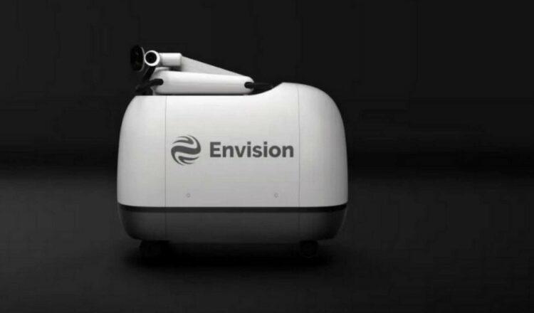 Le robot de recharge Mochi d'Envision va entrer en service à Shanghai cet été. © Envision Group