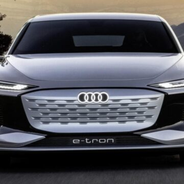 Audi A6 e-tron concept car presentado en el Salón del Automóvil de Shanghai 2021