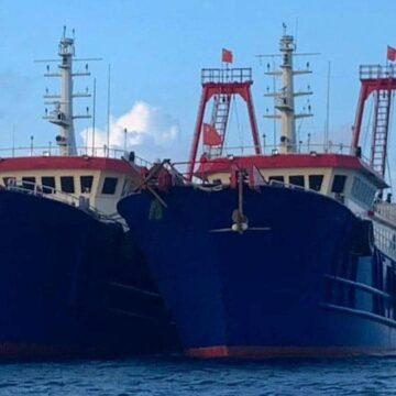 Gráficos de GPS revelan un juego secreto de 'gallina' entre la Guardia Costera China y un barco pesquero vietnamita