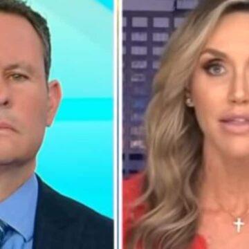 Lara Trump critica a Facebook por eliminar la entrevista con su suegro