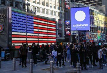 Coinbase valorado en $ 100 mil millones en el debut de Nasdaq