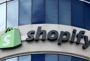 The logo of Shopify is seen outside its headquarters in Ottawa, Ontario, Canada, September 28, 2018. REUTERS/Chris Wattie