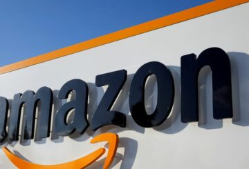 File photo: The logo of Amazon Europe Holding Technologies is seen at its entrance in Luxembourg in this picture taken on November 20, 2012. REUTERS/Francois Lenoir