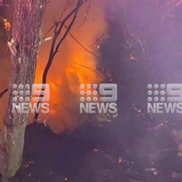 Camión se desvía de la M1 y estalla en llamas al norte de Sydney