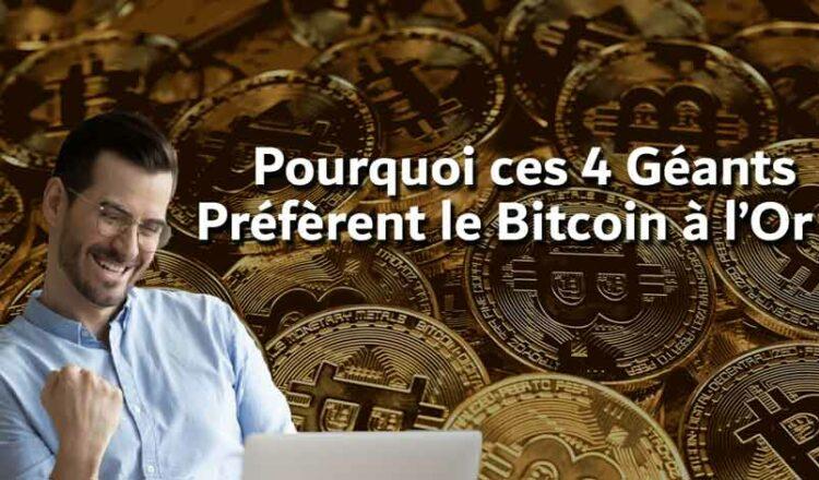 ¿Por qué estos 4 gigantes prefieren Bitcoin al oro?